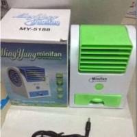 NEW AC Duduk Mini Portable Fragrance Handy Cooler Bladeless Fan Kipas