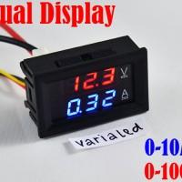 Dual Display Voltmeter + Amperemeter Digital 0-100v 0-10A 0.28in LED
