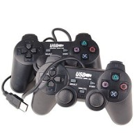 Stick GAMEPAD DOUBLE GETAR HITAM PC Komputer Laptop Notebook USB Dual