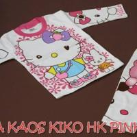 Piyama Kaos Anak Kiko Motif Hello Kitty Size S,M,L