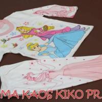 Piyama Kaos Anak Kiko Motif Princess Size S,M,L