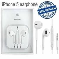 Headset Handsfree Earphone Earpod iPhone 5 /5S / 6 Apple Original 100%