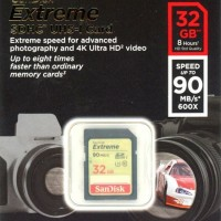 SanDisk SDHC 32GB EXTREME 90MB/s Class 10 Memory Kamera SD Card 32 GB