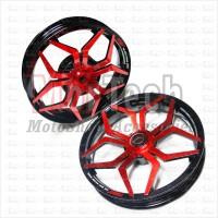 harga Velg Racing Lebar Power Vario Palang 5 Star Spider Hitam Merah Tokopedia.com