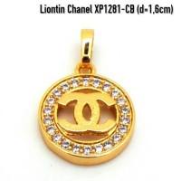 harga XP1281-CB Liontin Chanel Perhiasan Lapis Emas Gold Tokopedia.com