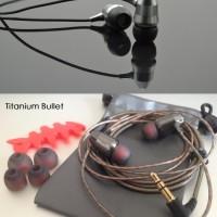 DIY Best Virsion Sliver Bullet Head Aluminium Metal Earphone Headset H