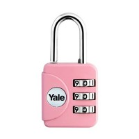 gembok Yale YP1/28/121/1P Pink Travel Lock
