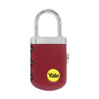 Gembok Yale YP3/31/123/1B Burgundy Travel Lock