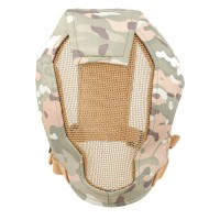 TMC Fencing Metal Mesh Full Face Airsoft Mask - MULTICAM
