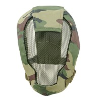 TMC Fencing Metal Mesh Full Face Airsoft Mask - WOODLAND