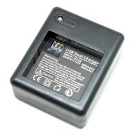 Dual Battery Batre Baterai Desktop Charger for Xiaomi Yi Camera