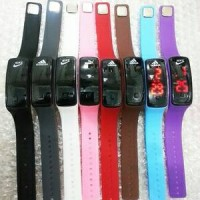 Jam Tangan Kaca LED Adidas Nike Puma Sport Watch Trend