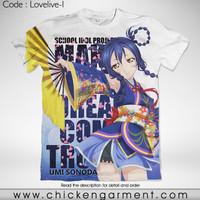Kaos Anime Love Live Umi Sonoda Full Graphic T-Shirt