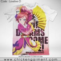 Kaos Anime Love Live Maki Nishikino Full Graphic T-Shirt