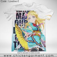 Kaos Anime Love Live Eli Ayase Full Graphic T-Shirt