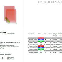 Clear Sleeves - Daiichi Classic Series - A4 (dozen)
