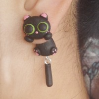 harga Anting Kucing Halloween Handmade Clay Tokopedia.com