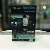harga Dexim Audio Car Mount Charging Holder For Iphone 4 / 4s / 3g / 3gs Tokopedia.com
