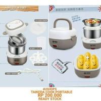 Rice Cooker 0,5L Mini Kecil Travel Egg Boiler Food Heater Multifungsi