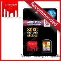 Strontium Nitro Plus 4K SDXC U3 64GB Class 10 (R:80Mb / S; W:60Mb / S)