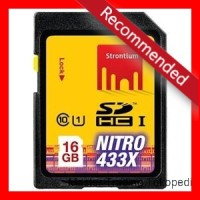Strontium 16GB SDHC UHS-1 NITRO 433X CARD (Up To 65mbps)