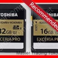 Toshiba SD Card Exceria Pro UHS-II 16GB (R::260MB / S; W::240MB / S)