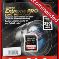 SanDisk Extreme PRO SDHC 64GB UHS-II (280 Mb / S)