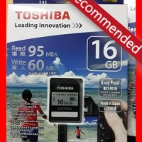 TOSHIBA SDHC EXCERIA 16GB (R:95 Mbps & W:90 Mbps) UHS-I Card Type1