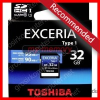 TOSHIBA SDHC UHS-I Card EXCERIA Type1 32GB (R:95 Mbps & W:90 Mbps)