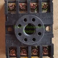 Socket / Pasangan Bulat Relay Omron 8 Kaki MK2P