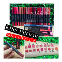 KISS PROOF Soft LIPSTICK Matte Longlasting by Meno