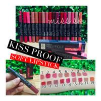KISS PROOF Soft LIPSTICK Matte Longlasting by Meno