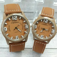 jam tangan fossil couple-harga sepasang(guess rolex puma