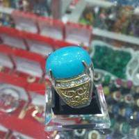 cincin batu akik ikat titanium