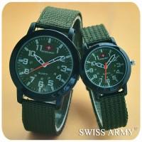 jam tangan couple swiss army / jtr 072 hijau