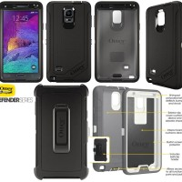 SAMSUNG NOTE 4, NOTE 5, S6 EDGE OTTERBOX DEFENDER RUGGED PROTECTION