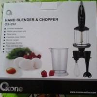Jual Hand Blender & Chopper Oxone OX-292 180 watt kapasitas besar 840 ml Murah