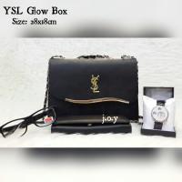 harga Tas Wanita/tas Selempang/tas Paketan/tas Paket Ysl Glow Box 4in1 Tokopedia.com