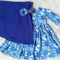gamis dan jilbab jersey untuk bayi dan balita 5 bulan - 6 tahun