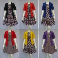 stelan batik rok blouse model kebaya pendek