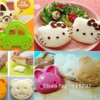 Cetakan Nasi,Telur /Mold Sandwich/ Bread ,Bento, Hello kitty,bunny,car