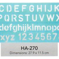 Butterfly Alphabetic & Wording Ruler Penggaris Huruf dan Angka Ha-270
