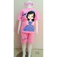 Setelan baju anak perempuan princess Sofia (D1)
