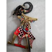 Miniatur Wayang Kulit Tokoh Raden Werkudara/Bima Ukuran 30 x 10 cm