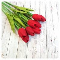 harga Hiasan Bunga Tulip Dekorasi Merah Tokopedia.com
