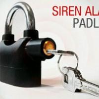 siren alarm padlock (gembok alarm motor kunci pagar rumah murah)