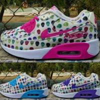 Sepatu Olahraga 37-40 NIKE Airmax 90 Kets Sport Shoes Wanita Aerobik