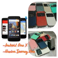 Leather Case Evercoss Android One X/Nexian Journey One
