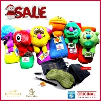 PAKET TRAVELING| ORIGINAL BLANKET CHARACTER |EMIRATES|+ POUCH from ETI