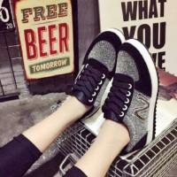 harga Dpe09 Sepatu Ankle Boots Sneakers Wedges Wanita Murah Kece Bagus Lokal Tokopedia.com
